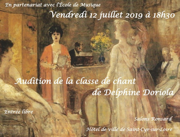 Audition classe de chant 2019